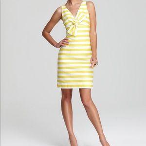 Kate spade striped yellow cotton dress sleeveless